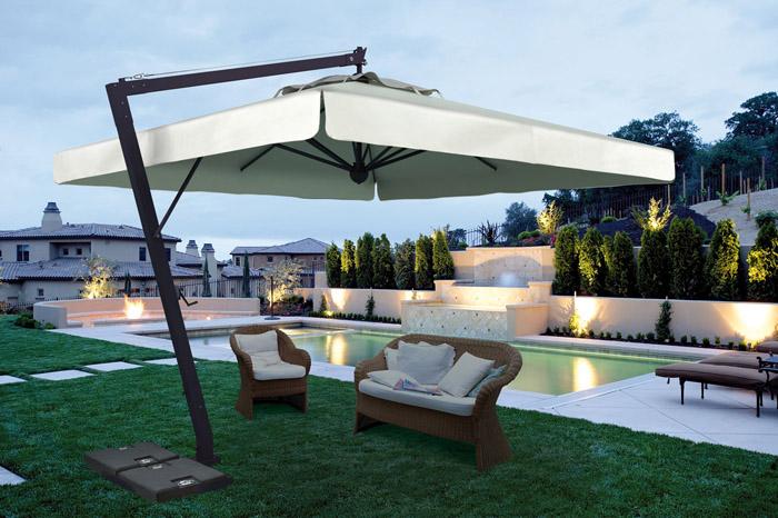 parasol ogrodowy leonardo 400 parasole ogrodowe. Black Bedroom Furniture Sets. Home Design Ideas